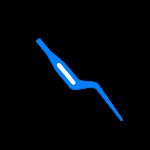 Pinça Bipolar Baioneta Com Irrigação – Neurologia – 17cm – 0,5mm