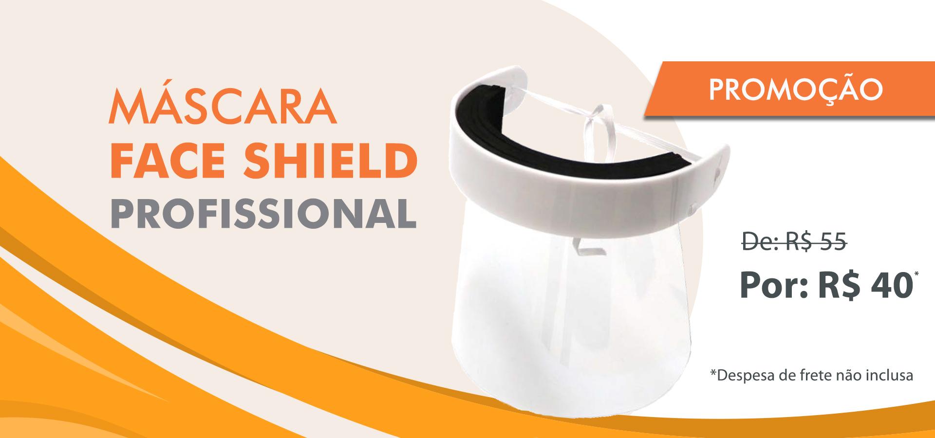 Máscara Face Shield Profissional – promoção